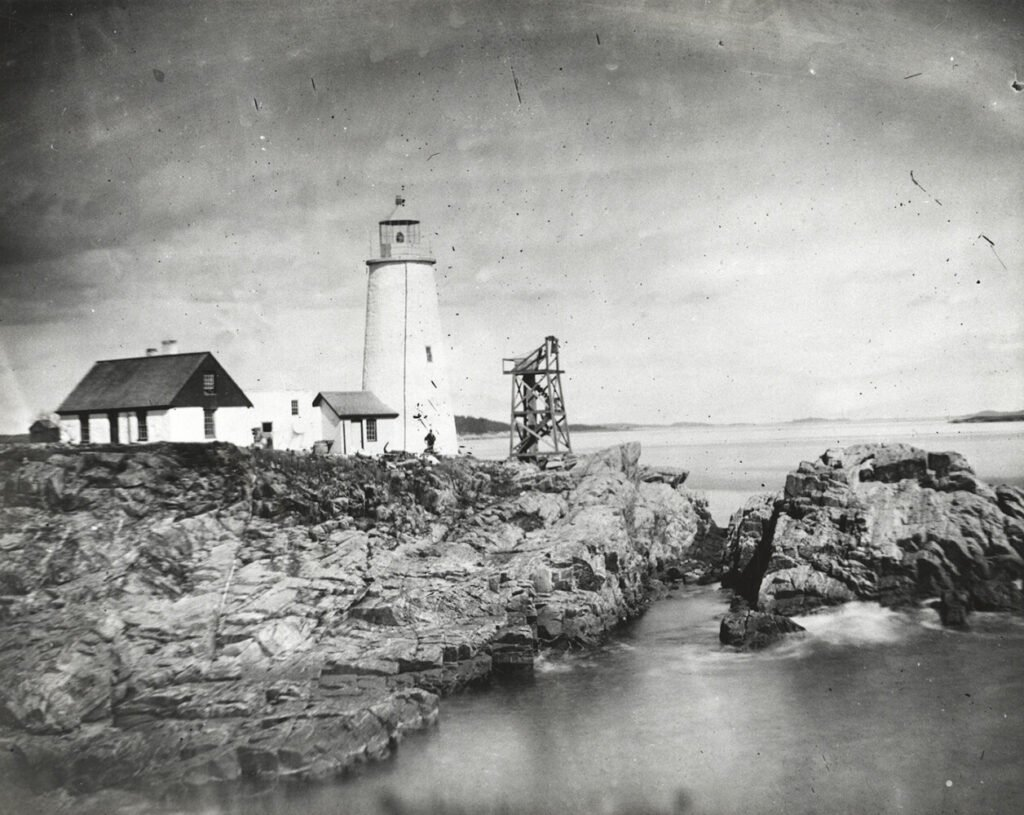 Portland Head Light photographed in 1859