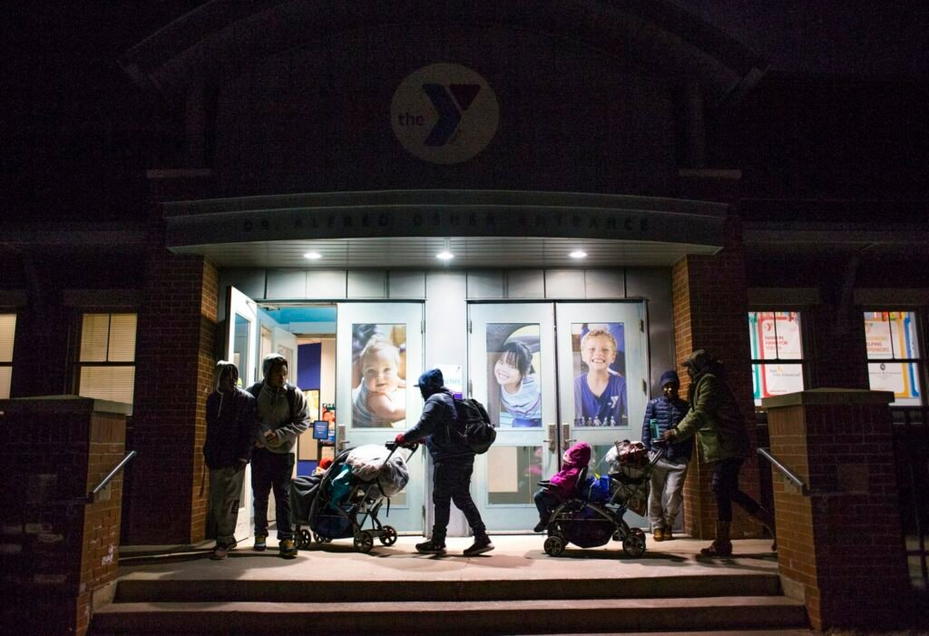 The Portland YMCA has been housing asylum seekers since Dec. 9. The arrival of 188 individuals in the last month has once again overwhelmed the city's shelter capabilities, meaning city staff is looking elsewhere to temporarily house these individuals.