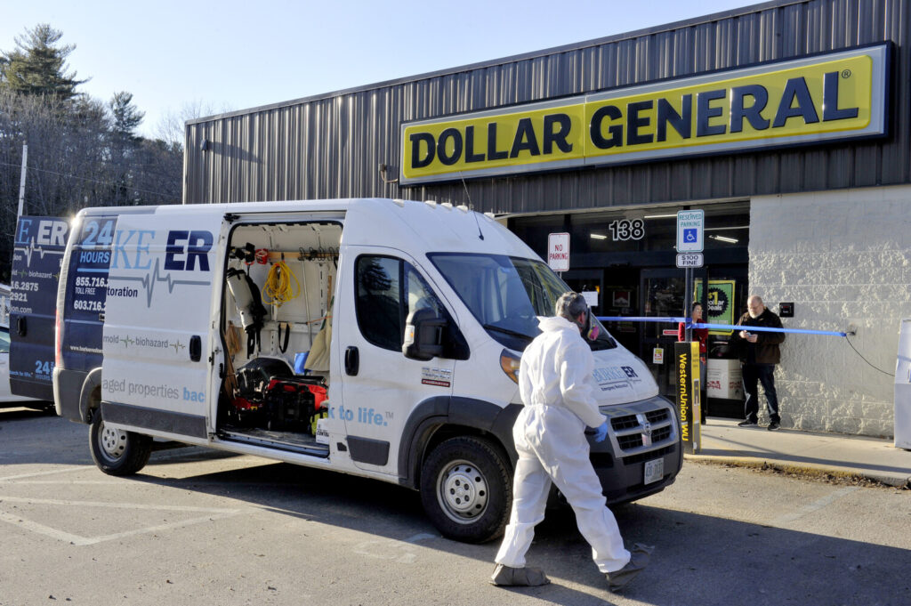 The Dollar General store in Limerick was the scene of an officer-involved shooting Friday night.  An employee of Burke ER, an emergency restoration service, was at the store on Saturday.