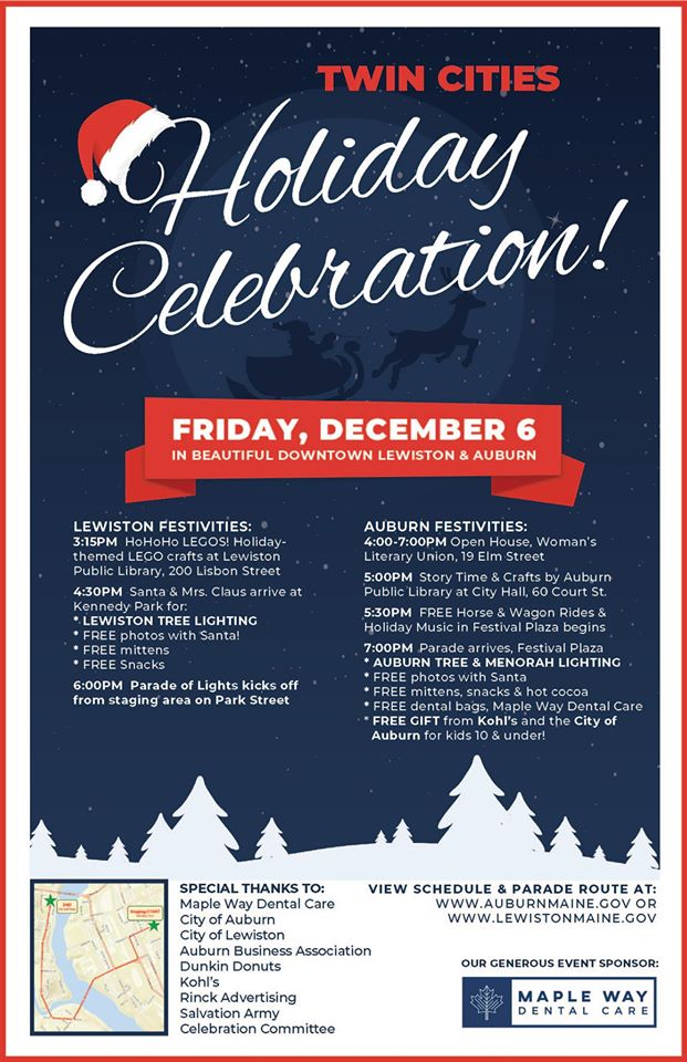 Lewiston-Auburn annual Christmas tree lighting and parade set for Friday | Lewiston Sun Journal