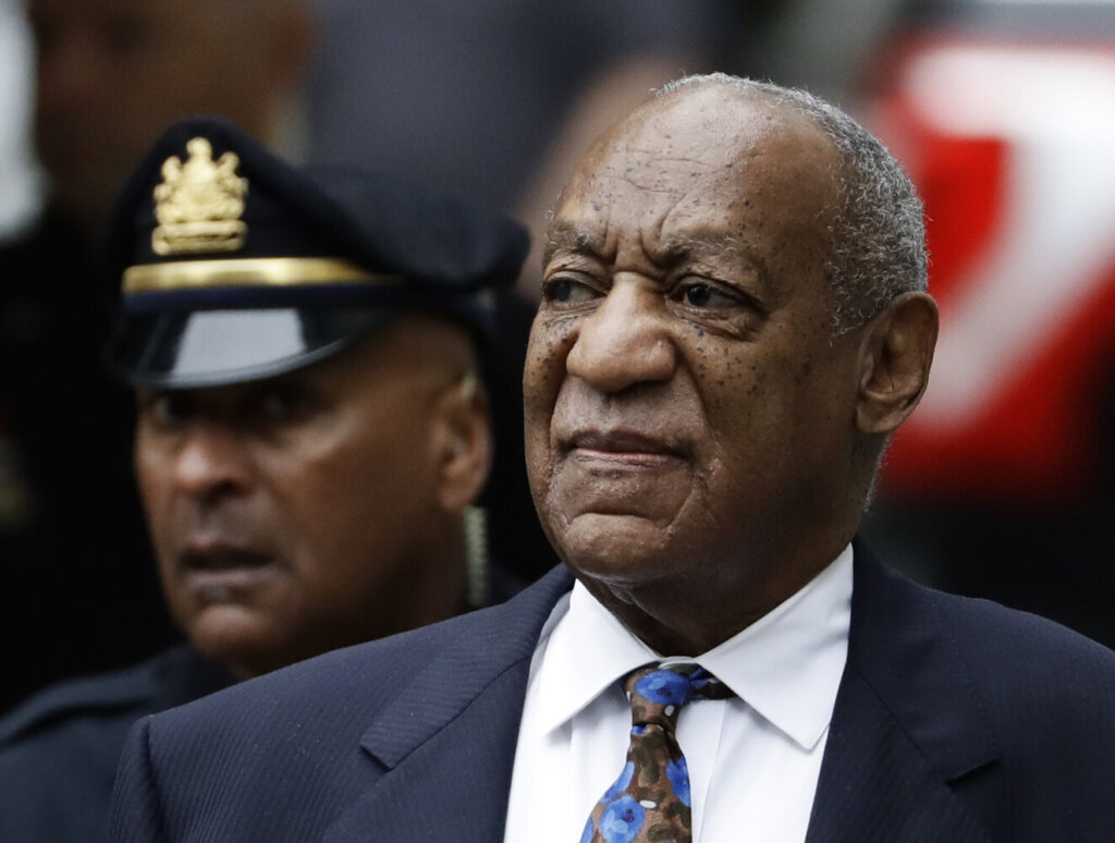 Bill Cosby arrives for his sentencing hearing Sept. 24, 2018, at the Montgomery County Courthouse in Norristown, Pa.