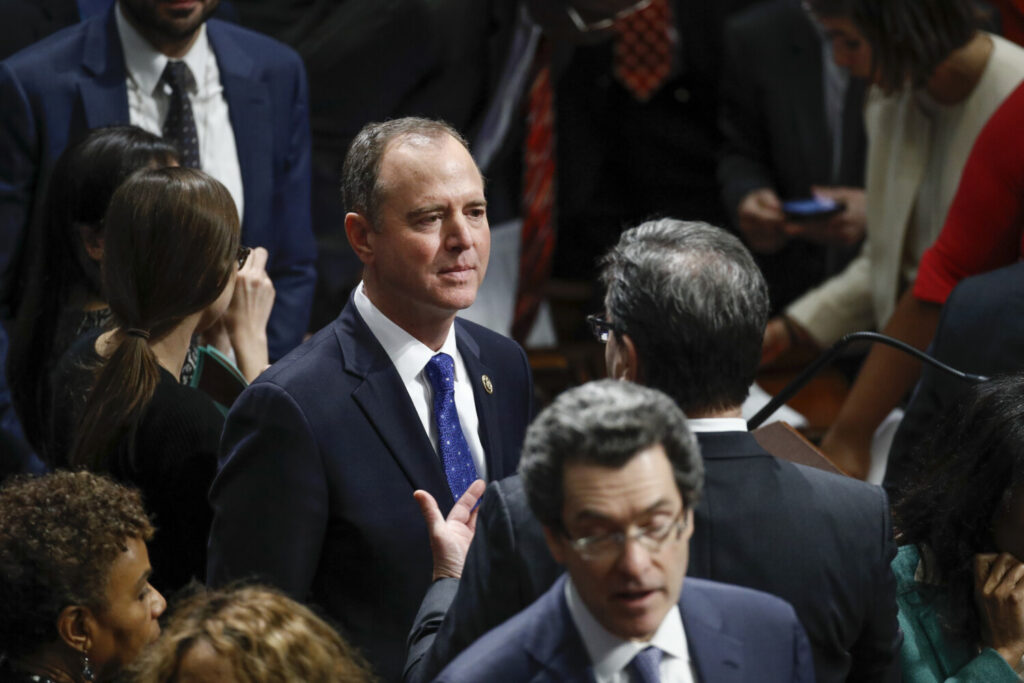 Rep. Adam Schiff, D-Calif., say he believes President Trump was threatening him in a tweetstorm Sunday morning.