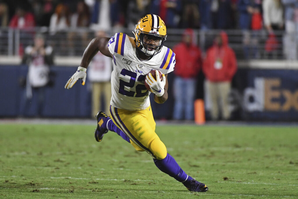 LSU running back Clyde Edwards-Helaire might not be able to play for the Tigers on Saturday as he continues to nurse a hamstring injury.