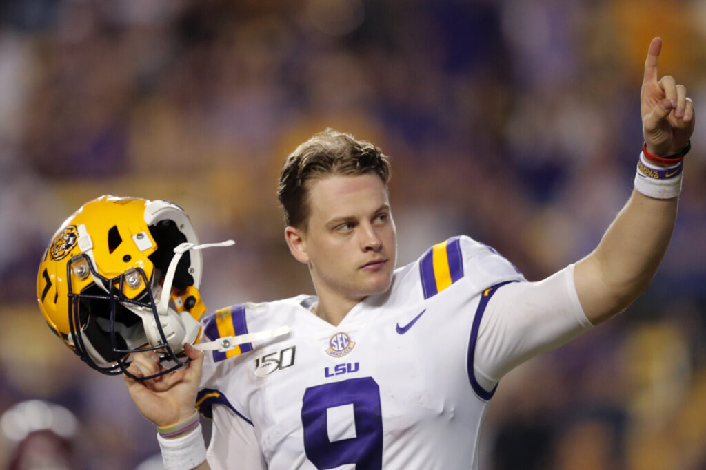 LSU quarterback Joe Burrow is considered a frontrunner to be the top pick in this year's NFL draft.