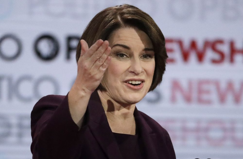 "Democratic presidential candidate Sen. Amy Klobuchar, D-Minn., asked to either name a gift or ask forgiveness for something during Thursday's debate, said, ""Well, I'd ask for forgiveness, any time any of you get mad at me. I can be blunt, but I am doing this because I think it is so important to pick the right candidates here."" Sen. Elizabeth Warren earlier gave a similar answer."