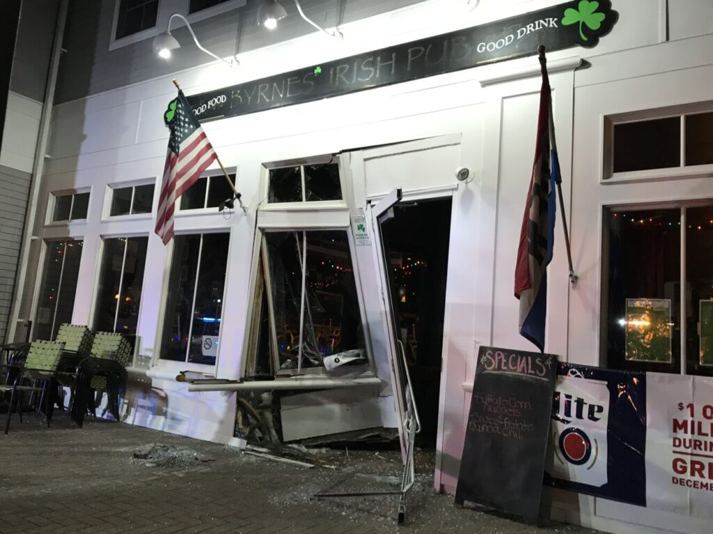 Byrne's Irish Pub in Brunswick plans to open for brunch Wednesday after closing for repairs Sunday night when a car ran into the building.