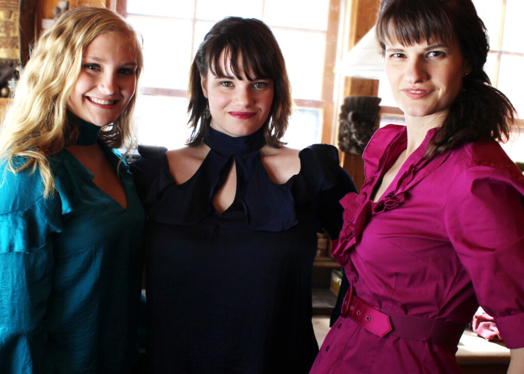 From left are Lydia Bradfield, Marianna Filippi and Kristyn Murphy.