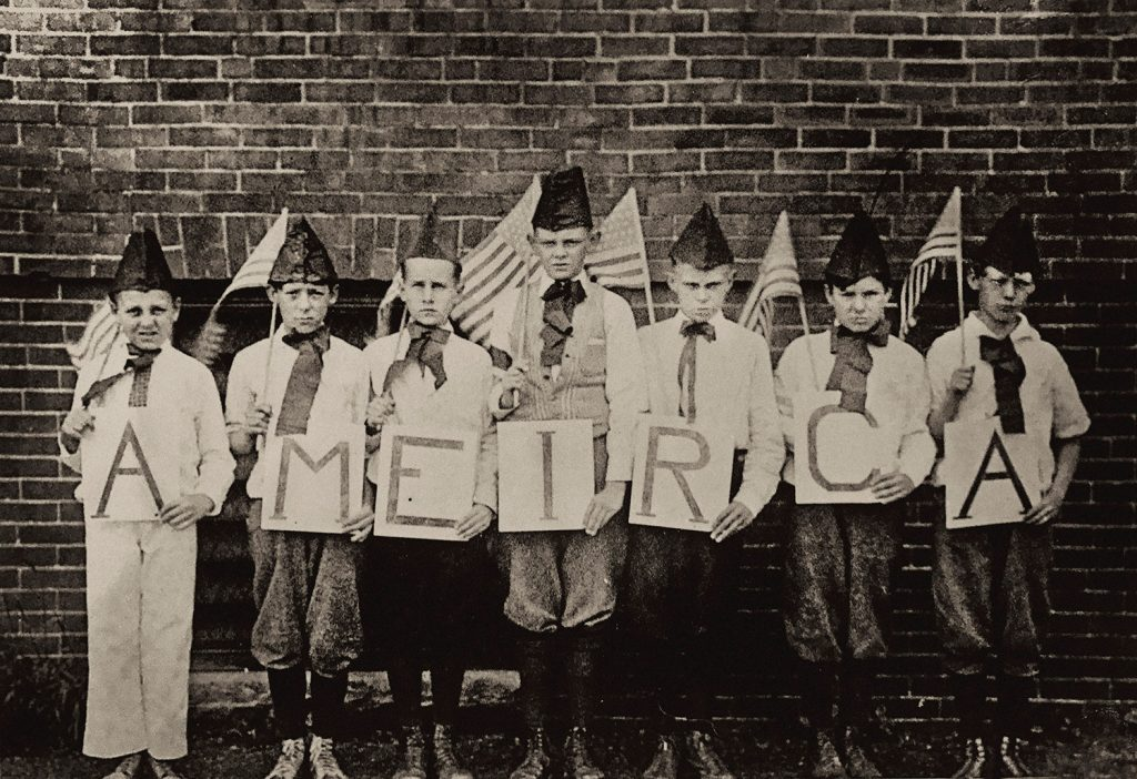 """Immigrant students at Chapman School in Portland, around 1920, learned English and U.S. history as part of """"Americanization"""" classes sponsored by Portland public schools."""