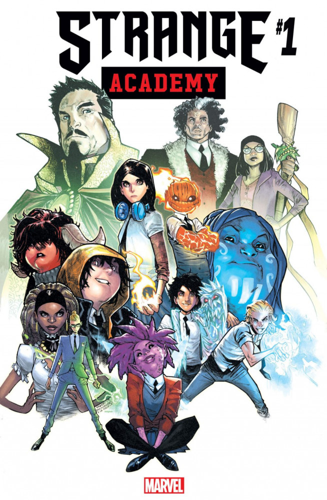 """This image released by Marvel shows the cover art for the upcoming """"Strange Academy"""" comic book. Marvel announced Thursday that the comic about a New Orleans-based school for young people with mystical powers will debut in March."""
