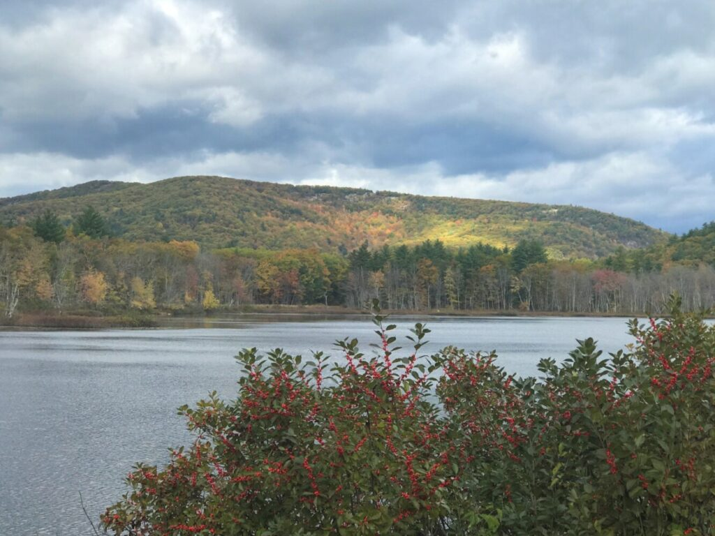 Mt. Cutler in Hiram as viewed from Ingalls Pond on Maine Route 113.