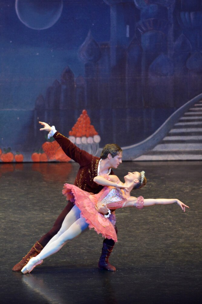 "Rhiannon Pelletier as Sugar Plum Fairy and Michael Hamilton as Cavalier in a scene from ""The Nutcracker."""
