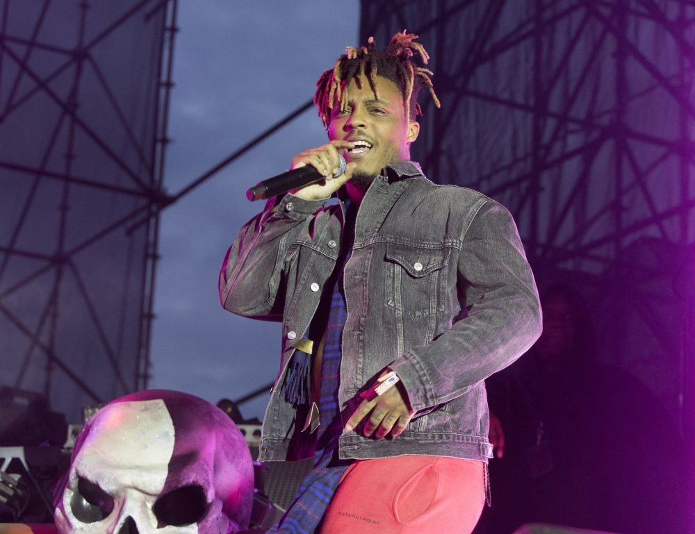 """Juice WRLD performs in concert May 15 during his """"Death Race for Love Tour"""" at The Skyline Stage at The Mann Center for the Performing Arts in Philadelphia. The Chicago-area rapper, whose real name is Jarad A. Higgins, was pronounced dead Sunday. Chicago police say they're conducting a death investigation."""