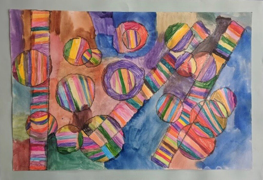 Abstract by Ariel Roy, 2nd grade, Academy Hill School.