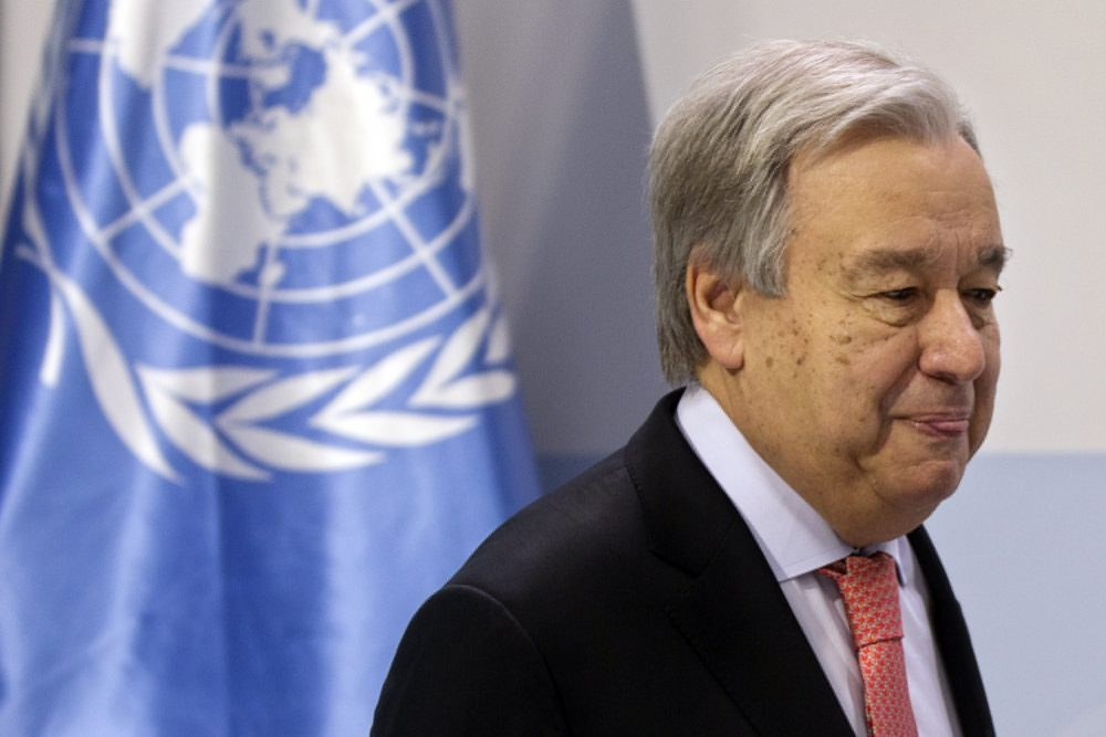 UN Secretary-General Antonio Guterres speaks during a news conference Sunday at the COP25 summit in Madrid, Spain. This year's international talks on tackling climate change were meant to be a walk in the park compared to previous installments. But with scientists issuing dire warnings about the pace of global warming and the need to urgently cut greenhouse gas emissions, officials are under pressure to finalize the rules of the 2015 Paris accord and send a signal to anxious voters.