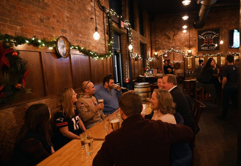 Winter is just the right time to visit The King's Head pub. Its food is especially appealing when the temperatures drop.