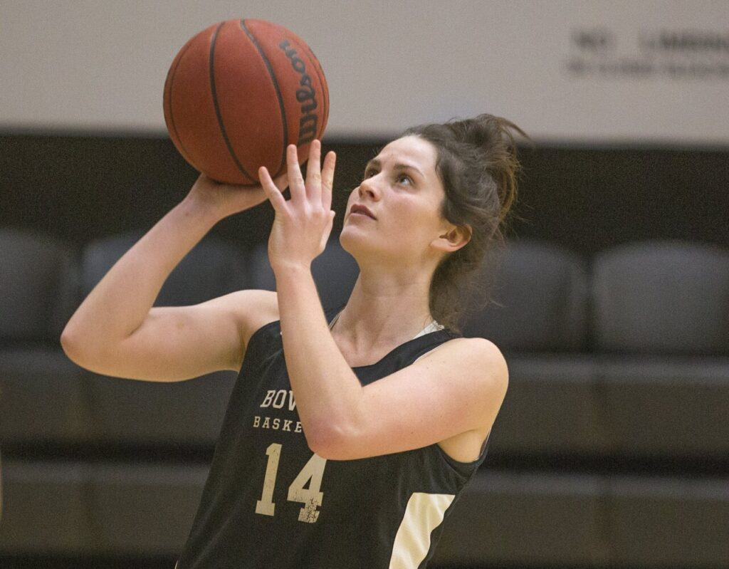 Bowdoin senior Maddie Hasson has been named the 2020 Women's Basketball Coaches Association Division III national player of the year.