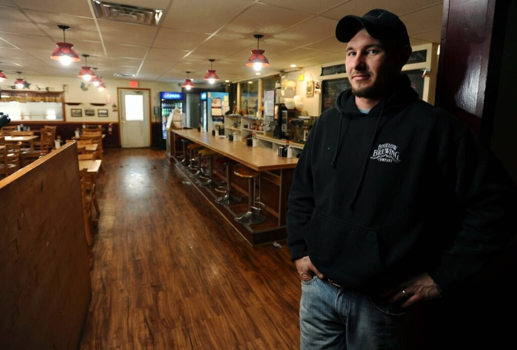 Dylan Wentworth, who owns Wentworth's Country Diner in Norridgewock with his wife, Emily, distributed a petition to change the town's blue laws so that people might have a beer with dinner at his restaurant, but the effort failed to garner enough signatures.