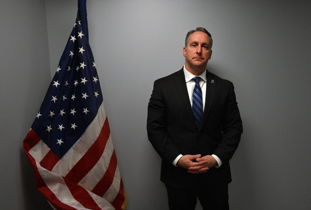 Matthew Albence, acting director for U.S. Immigration and Customs Enforcement, photographed in January 2019 in the agency's Portland office.