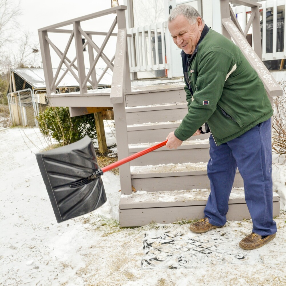 John Compagna tells the story of his encounter with a fox outside his home Tuesday in Farmingdale. He killed the attacking fox that is being tested for rabies.