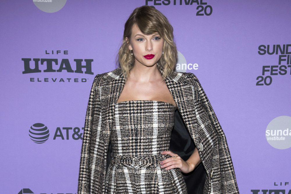 """Taylor Swift attends the premiere of """"Miss Americana"""" at the Eccles Theater during the 2020 Sundance Film Festival on Thursday, Jan. 23, in Park City, Utah."""
