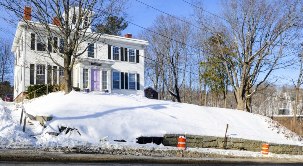 This photo, taken Tuesday, shows the retaining wall on Brunswick Avenue in Gardiner.