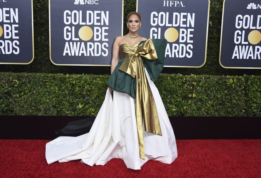 Jennifer Lopez arrives at the 77th annual Golden Globe Awards at the Beverly Hilton Hotel on Sunday in Beverly Hills, Calif. (Photo by Jordan Strauss/Invision/AP)