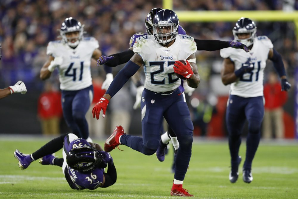 Derrick Henry is on a historic roll for the Tennessee Titans. He is the first player with two games of 175 or more rushing yards in the same postseason. Oh, and he threw a 3-yard touchdown pass.