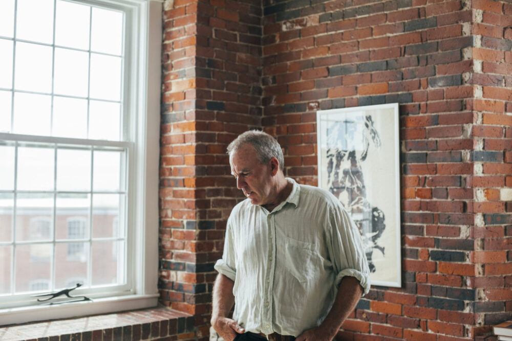 BIDDEFORD, ME - JUNE 26: Doug Sanford in his apartment at the Pepperell Mill Complex in Biddeford, ME on Friday, June 26, 2015. (Photo by Whitney Hayward/Staff Photographer) <i></i>