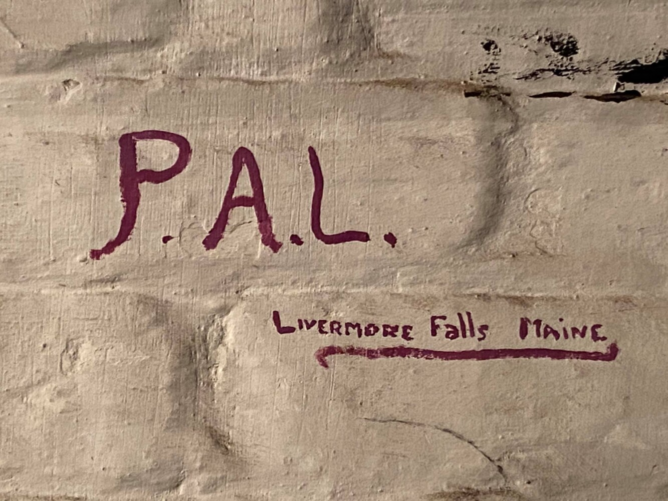 WWII graffiti referencing 'Livermore Falls Maine' uncovered in England | Lewiston Sun Journal