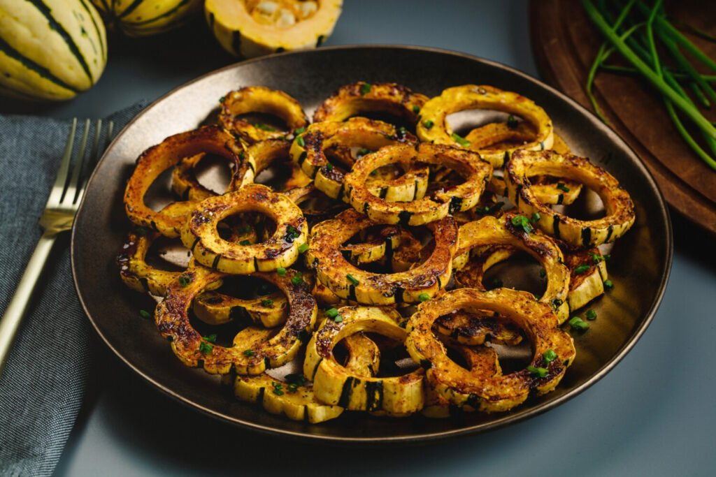 Roasted delicata squash rings