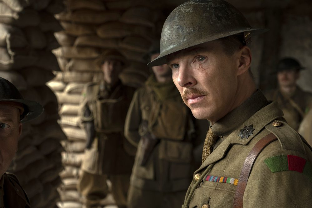 """Benedict Cumberbatch as Colonel Mackenzie in a scene from """"1917,"""" directed by Sam Mendes."""