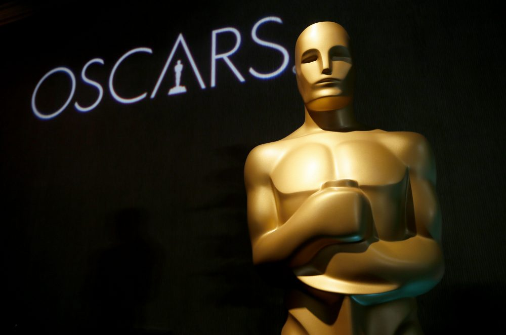 In this Feb. 4, 2019 file photo, an Oscar statue appears at the 91st Academy Awards Nominees Luncheon in Beverly Hills, Calif. The Oscars will not have a host for its annual awards show.