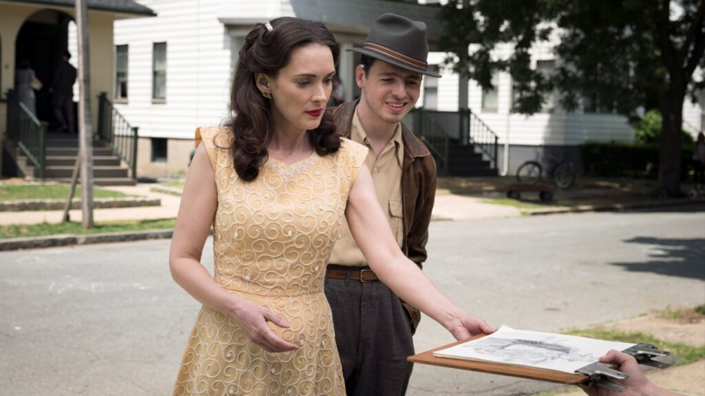 """Winona Ryder, left, and Anthony Boyle in a scene from """"The Plot Against America."""""""