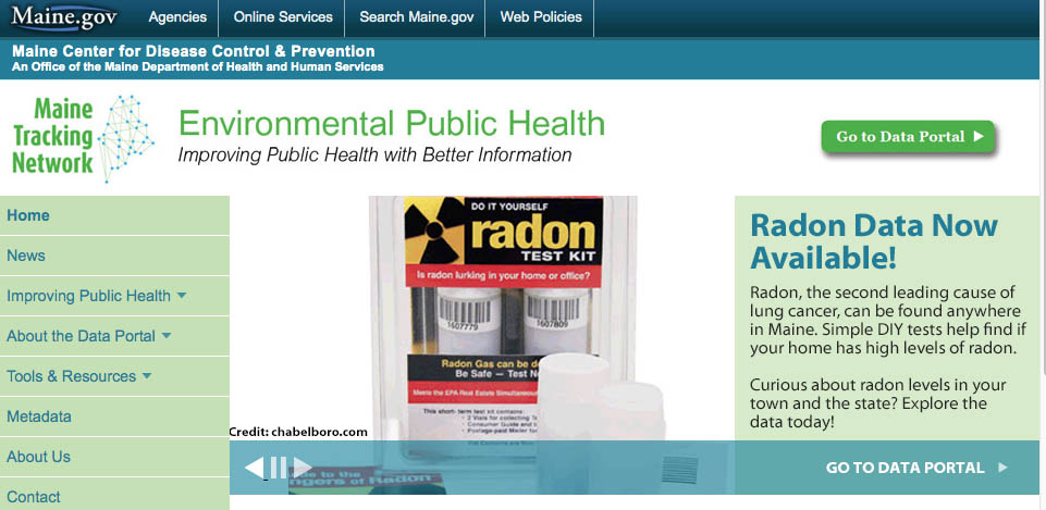 The Maine Center for Disease Control and Prevention provides a new online tool to help reduce residents' chance of radon exposure.