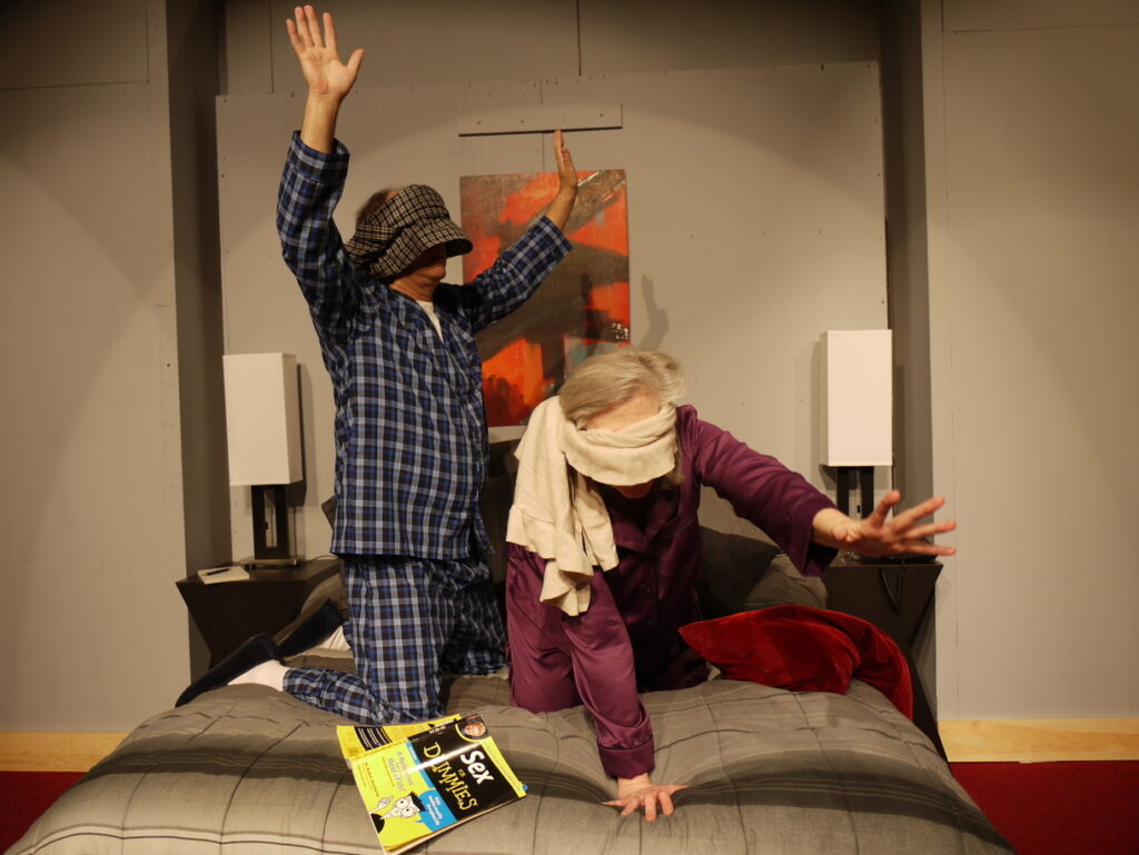 "Russell Berrigan, left, as Henry, and Maura O'Brien as Alice in ""Sexy Laundry."""