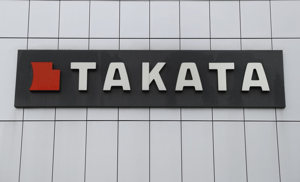 This June 25, 2017 file, photo shows TK Holdings Inc. headquarters in Auburn Hills, Mich. Takata is recalling 10 million more front air bag inflators sold to 14 different automakers because they can explode with too much force and hurl shrapnel.