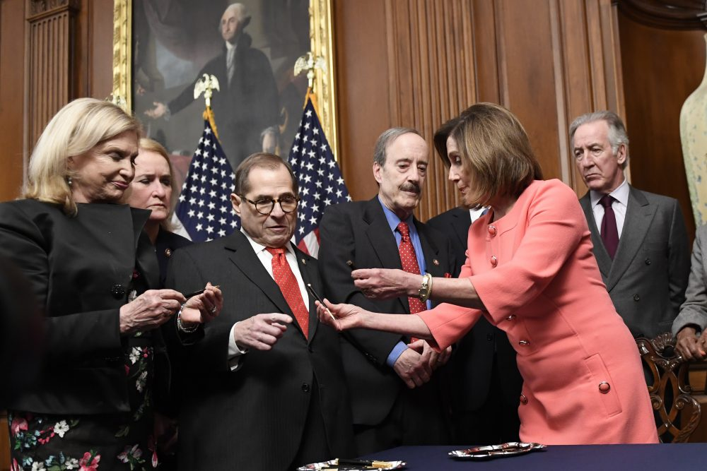 Carolyn Maloney, Sylvia Garcis, Jerrold Nadler, Eliot Engel, Richard Neal, Nancy Pelosi