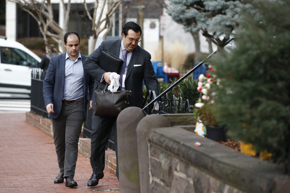 Jordan Sekulow, right, the executive director of American Center for Law and Justice in Washingotn , D.C. on Jan. 28.
