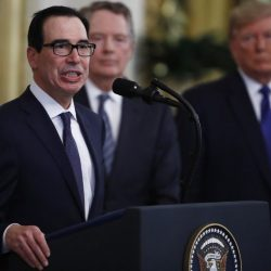 Donald Trump, Steven Mnuchin, Robert Lighthizer