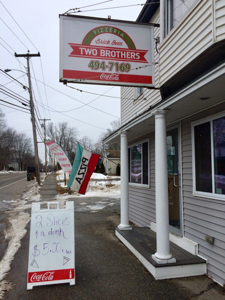 Two Brothers Pizzeria and Deli in Saco has great, fast service and a tasty pizza sauce. This reviewer just wishes they were more generous with the extra cheese toppings.