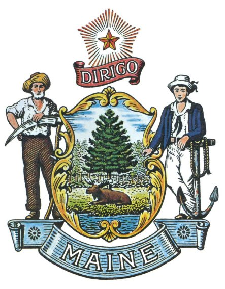 Maine's state motto - Dirigo - debuted in 1820 as part of the new state's official seal.