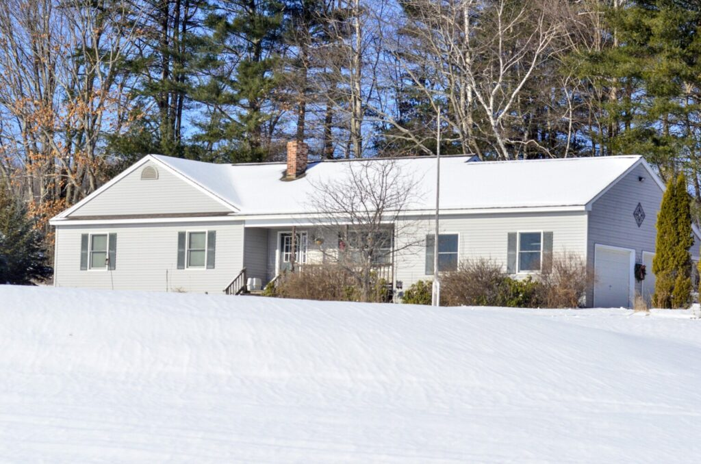 The home at 605 Hussey Hill Road in Vassalboro is seen Friday where Nicholas Blaschke, 26, died in a fire the previous day.