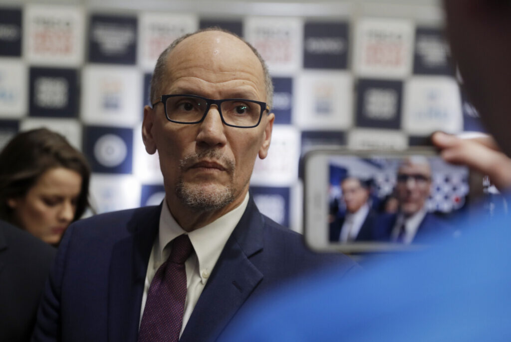 Tom Perez, the chairman of the Democratic National Committee, called Thursday for a recanvass in Iowa.