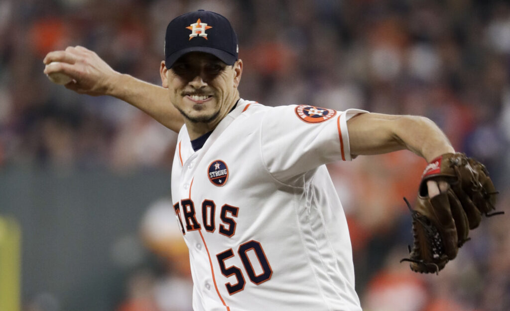 Charlie Morton pitched for the Astros in Game 4 of the World Series in 2017. Now with Tampa Bay, Morton wish he had done more to try to stop the Astros sign-stealing scheme.