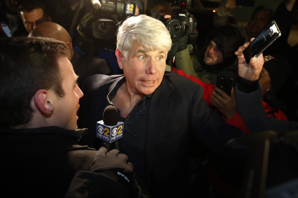 Former Illinois Gov. Rod Blagojevich arrives home in Chicago on Wednesday after his release from Colorado prison late Tuesday.