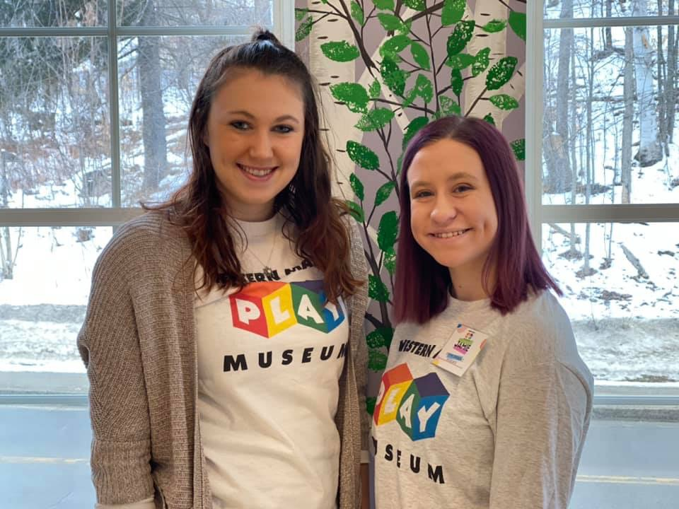 The Western Maine Play Museum in Wilton has hired two new Visitor Experience Associates. From left are Carson Hope and  Jamie St. Pierre.