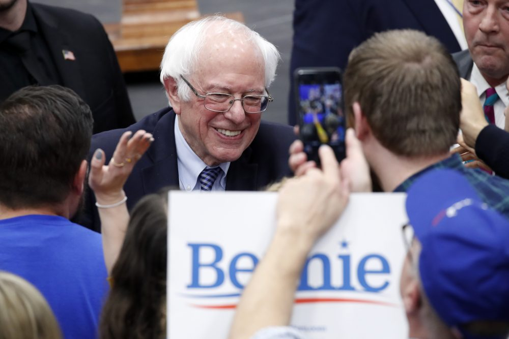 Democratic presidential candidate Sen. Bernie Sanders, I-Vt., benefited from the number of candidates in the New Hampshire primary on Tuesday, which split the vote multiple ways.