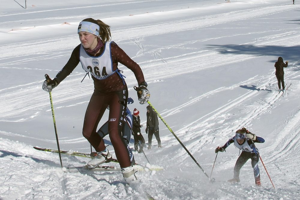 Cross-country skiers from around Vermont compete in races in East Montpelier, Vt., this month. The ski racing community worldwide is starting to back away from the use of fluorinated waxes that contain chemicals that pose threats to human health and impact the environment.