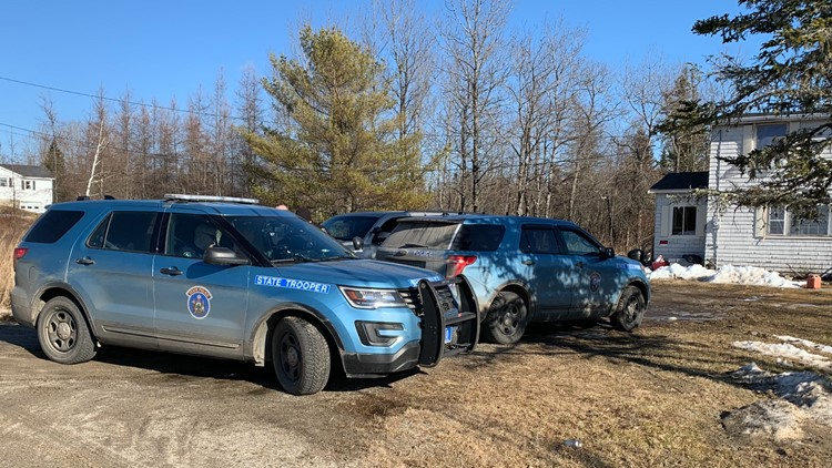 Police converged on Kennebec Road in Machias as they investigated multiple shootings on Monday.