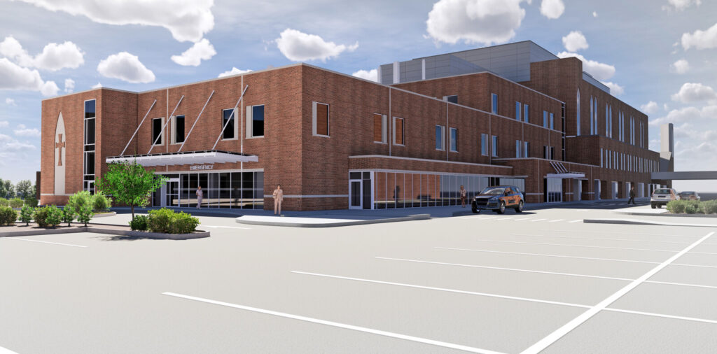This rendering shows the future Northern Lights Mercy Hospital after a planned $84 million expansion.